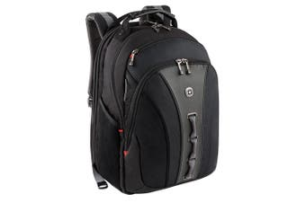 Wenger Swissgear Legacy Rucksack 16 Laptop Carry Bag Backpack Travel GRY BLK