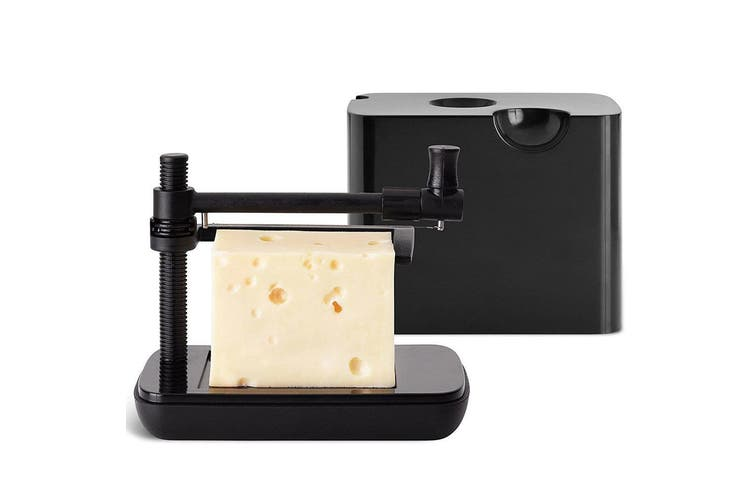Nuance Cheese Slicer Box Container Nylon Cutter Board for Butter Slice Cut Black