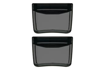 2x ClickClack 900ml Display Cube Air Tight Pantry Plastic Storage Container BLK
