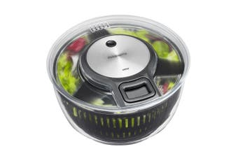 Gefu Speedwing Salad Spinner Lettuce Dryer Serving Bowl Container Storage Clear