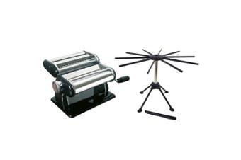 2pc Gefu Pasta Perfetta Nero Pasta Machine Maker Stainless Steel Pasta Dryer SL