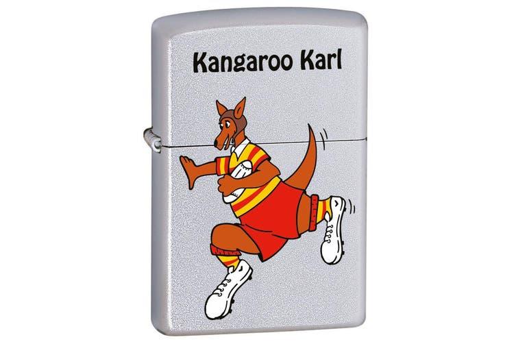 Zippo Kangaroo Karl - Rugby Genuine Satin Chrome Finish Cigar Cigarette Pocket