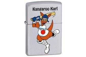 Zippo Kangaroo Karl Cricket Genuine Satin Chrome Finish Cigar Cigarette Lighter