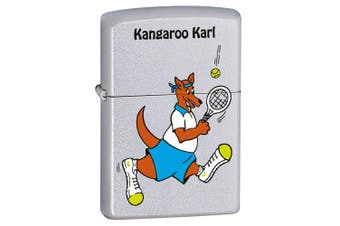 Zippo Kangaroo Karl Tennis Genuine Satin Chrome Finish Cigar Cigarette Lighter