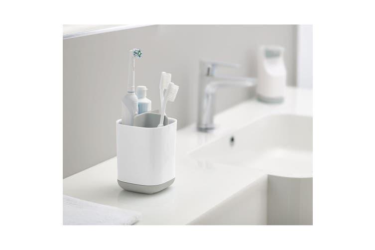 2x Joseph Joseph EasyStore Paste Toothbrush Caddy Bathroom Storage Organiser GRY
