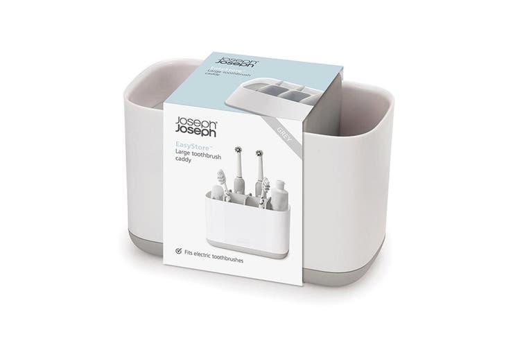 Joseph Joseph EasyStore Large Toothbrush Caddy Bathroom Storage Organiser Grey