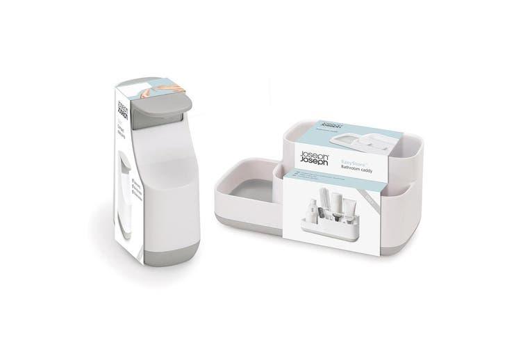 Joseph Joseph Easystore Soap Pump Dispenser & Bathroom Sink Caddy Storage Grey