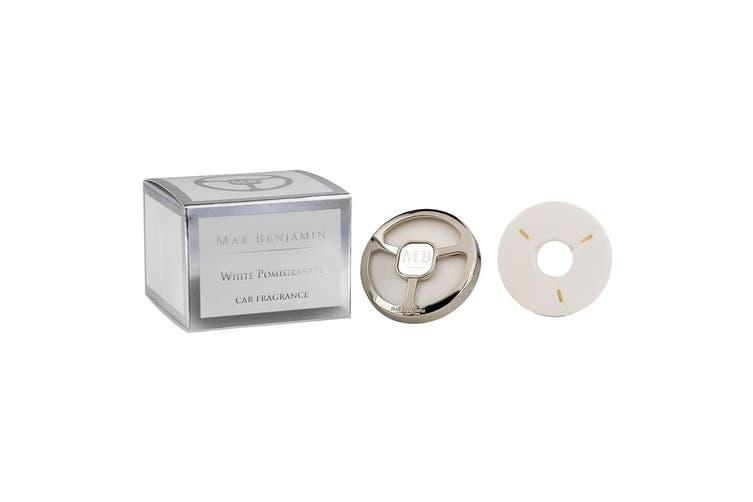 Max Benjamin Car Fragrance Air Vent Freshener with 2 Refills White Pomegranate