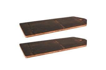 2x Peer Sorensen 75cm Black Bamboo Food Serving Board Wooden Tray Cheese Platter