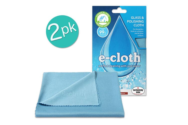 2PK E-Cloth Glass Cloth 50cm Polishing Cleaner Windows Mirrors Stainless Steel