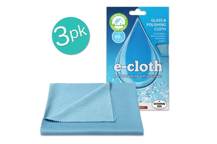 3PK E-Cloth Glass Cloth 50cm Polishing Cleaner Windows Mirrors Stainless Steel