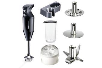 Bamix Mono 140W Black Hand Stick Blender & Wet Dry Food Processor Accessory Set
