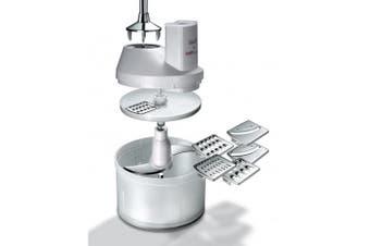 Bamix Slicesy Food Processor Chopper Grater Slicer for Handheld Blender White