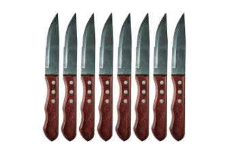 8pc Avanti Jumbo 12cm Steak Knife Set Stainless Steel Cutlery Dining Serrated