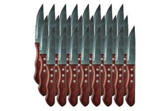 24pc Avanti Jumbo Steak Knife Set Serrated Stainless Steel Kitchen Cutlery