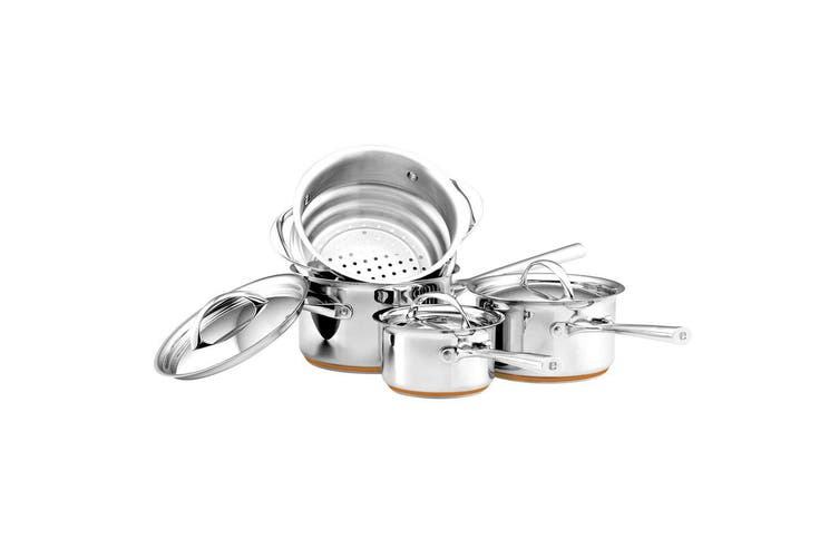 4pc Essteele Per Vita Stainless Steel Induction Cookware Set Saucepan Steamer SL