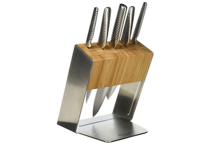 Global 6PC Katana Knife Cutlery Japanese Kitchen Chef Cook Knives Block Set