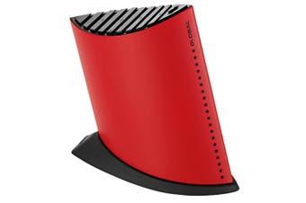 Global Red Ship Shape Knife Holder Block 9 Slots for Knives 24cm Stainless Steel