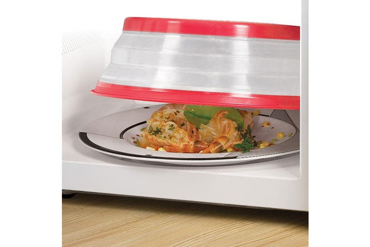 4PK Tovolo Microwave Safe Bowl Plate Cover Collapsible Food Reheat Protector Lid