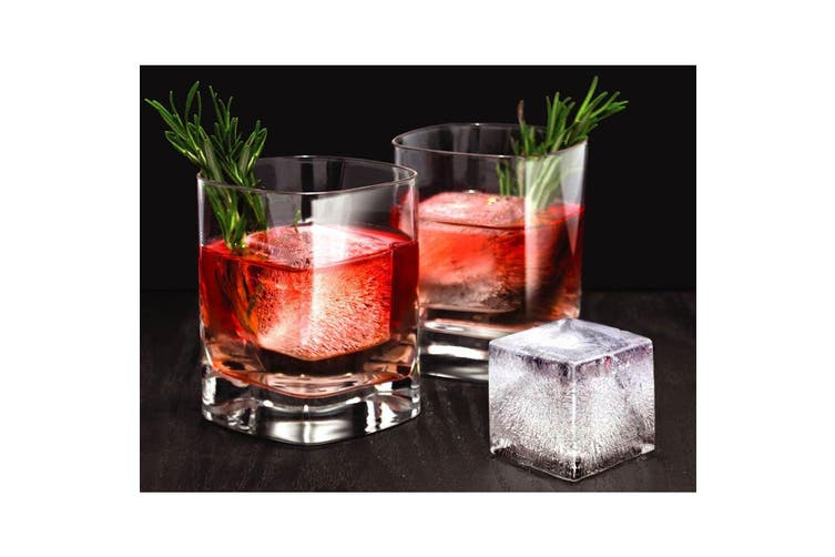 4x Tovolo King Jumbo Ice Cube Silicone Tray BPA Free Dishwasher Safe Candy Apple