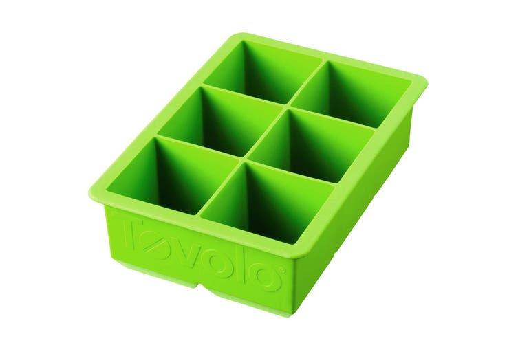 Tovolo King Jumbo Ice Cube Silicone Tray BPA Free Dishwasher Safe Spring Green