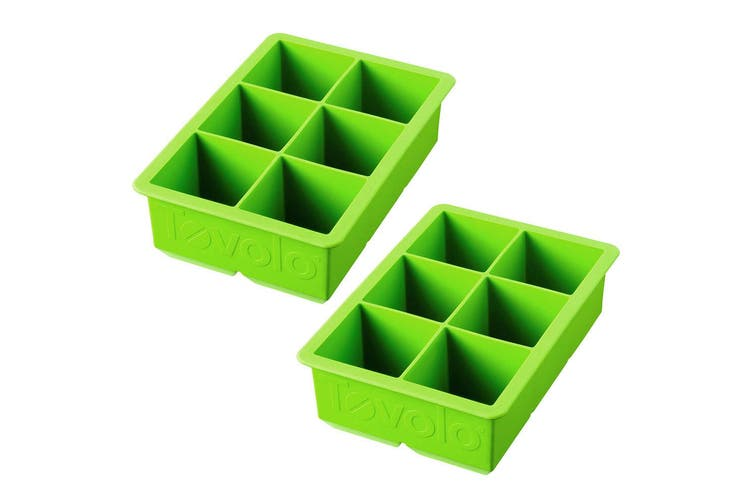 2pc Tovolo King Jumbo Ice Cube Silicone Tray BPA Free Dishwasher Safe Green