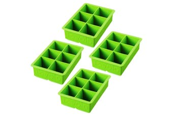 4pc Tovolo King Jumbo Ice Cube Silicone Tray BPA Free Dishwasher Safe Green