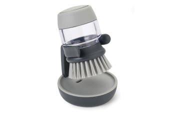 Joseph Joseph Palm Scrub Dishwashing Dish Brush w  Soap Dispenser Storage Grey