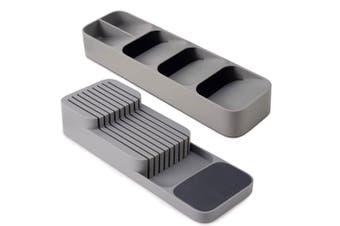 Joseph Joseph DrawerStore Compact Cutlery Knives Organiser Utensils Storage GRY
