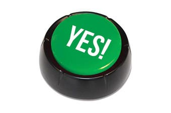 The Yes Button Recorded Talking Sound Home Party Funny Gag Novel Fun Toy Red