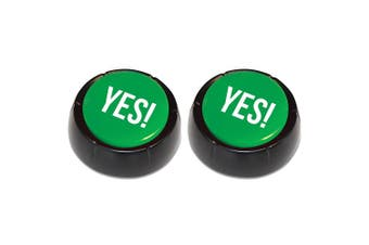 2x The Yes Button Recorded Talking Sound Home Party Funny Gag Novel Fun Toy Red