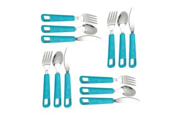 12pc Trudeau Snap Cutlery Spoon Fork Knife Stainless Steel f Camping Lunch Box