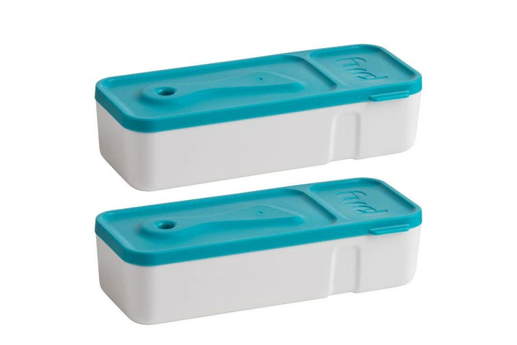 2x Trudeau Snack & Dip Sauce BPA Free Snacks Biscuit Fruit Veggie Food Container