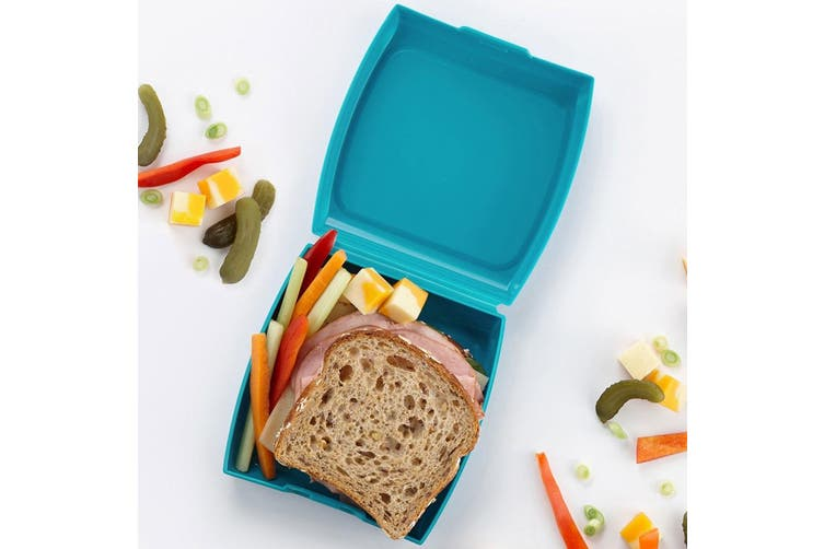 Trudeau 14cm Square Sandwich Box Bread Food Container Snack Storage Keeper BL