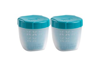 2PK Trudeau 350ml Fruit Berries Food Snack Tub Container Storage BPA Free Blue