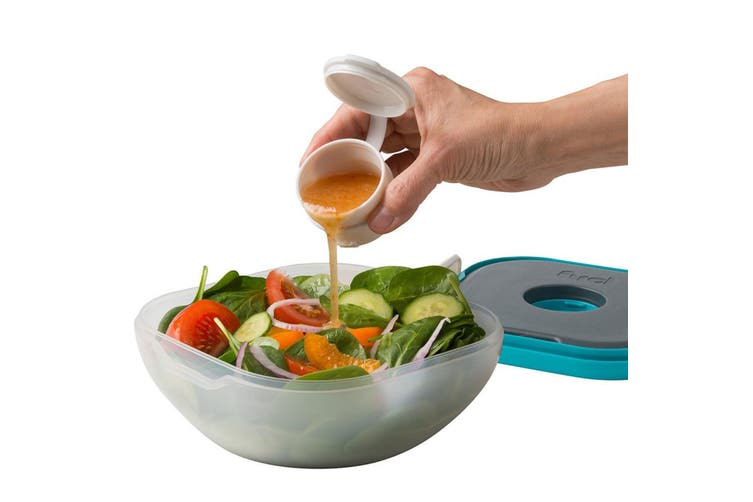 Trudeau Salad On The Go BPA Free Food Lunch Box w  Ice Pack Dressing Container