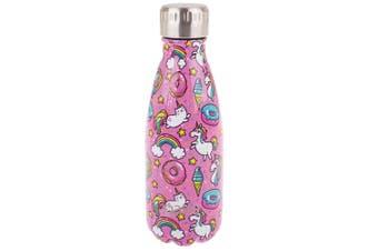 Oasis 350ml Double Wall Insulated Water Drink Bottle Vacuum Flask Unicorn
