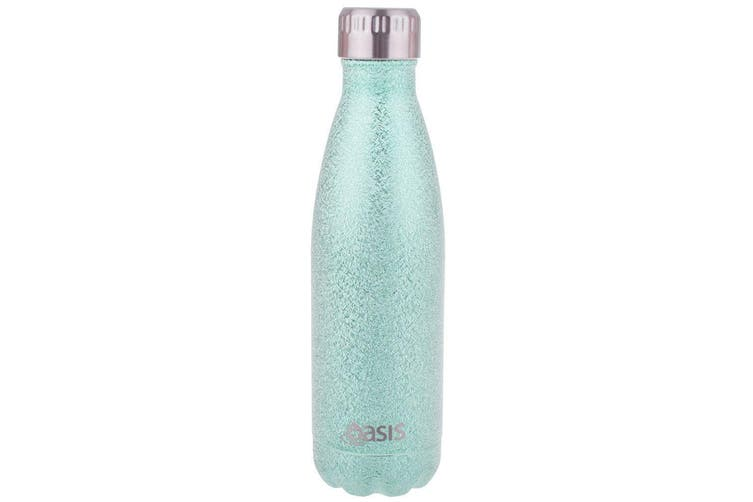 2x Oasis 500ml Water Thermo Bottle Stainless Steel Cold Hot Drink Shimmer Aqua