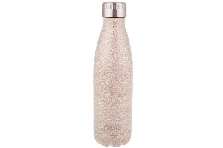 Oasis 500ml Water Thermo Bottle Stainless Steel Cold Hot Drink Shimmer Gold