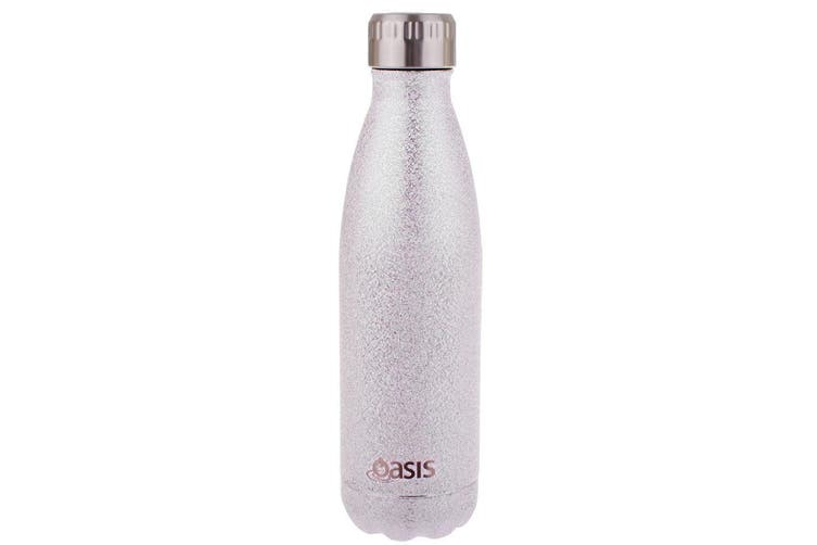 2x Oasis 500ml Water Thermo Bottle Stainless Steel Cold Hot Drink Shimmer Silver