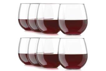 8PC Libbey 495ml Vina Stemless Glasses Red White Wine Cocktail Liquor Party Set