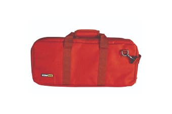 ChefTech 18 Pocket Knife Roll w Strap Red Top Quality Portable Storage Bag Case