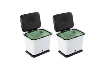2PK Full Circle Fresh Air Odour-Free 5.7L Compost Food Waste Collector Bin Trash