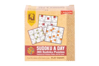 Lagoon Rubik Kids Adults 365 Sudoku A Day Book Brain Teaser 11cm Desk Block