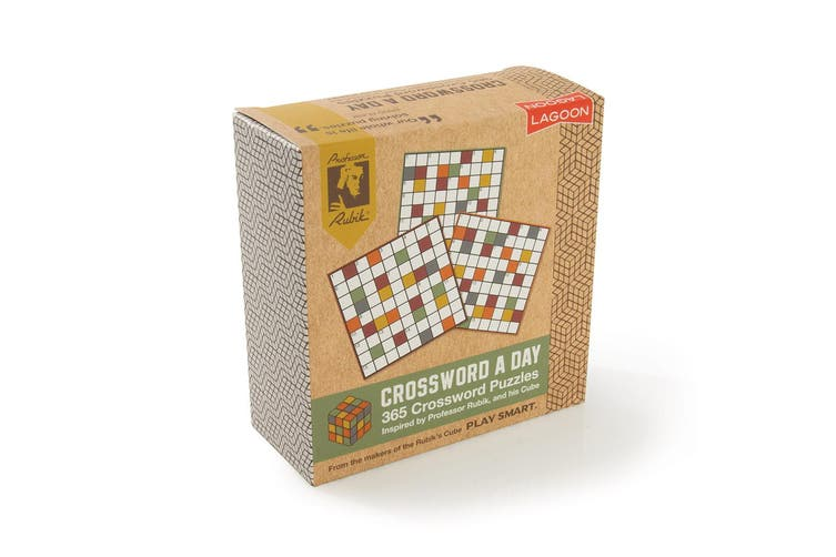 Lagoon Rubik Kids Adults 365 Crossword A Day Book Brain Teaser 11cm Desk Block