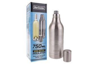 Bar Cooler 750ml Stainless Steel Double Wall Wine Bottle Insulator Travel Cooler