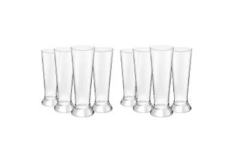 8PC Royal Leerdam 370ml L'Esprit Beer Pilsner Glass Pint Tall Drink Bar Glasses