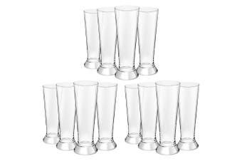 12PC Royal Leerdam 370ml L'Esprit Beer Pilsner Glass Pint Tall Drink Bar Glasses