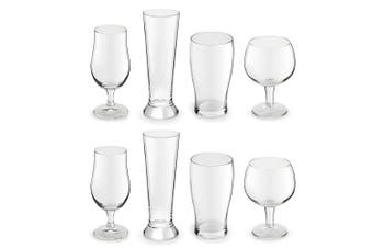 8pc Royal Leerdam Artisan Beer Glass Cocktail Drinks Combination Set Party Bar