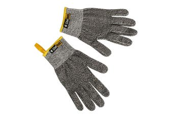 Chef Tech Fibre Knit Cut Resistant Hand Gloves Work Safety Glove Protection Grey